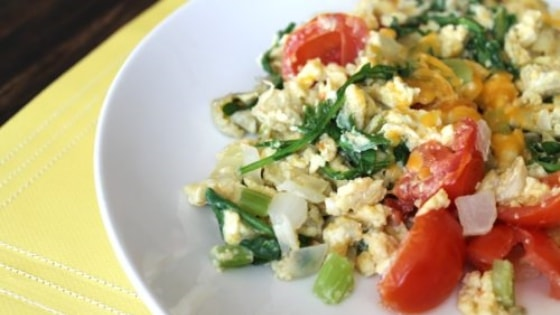 Receita de ovo mexido fitness