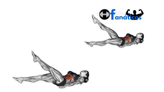 Exercicios para Perder Barriga - Elevação de pernas
