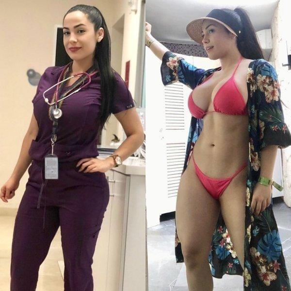 40 Mulheres saradas de uniforme